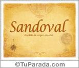Origen y significado de Sandoval