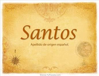 Origen y significado de Santos