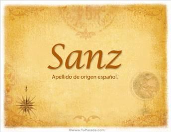 Origen y significado de Sanz