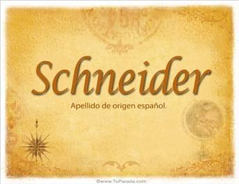 Origen y significado de Schneider