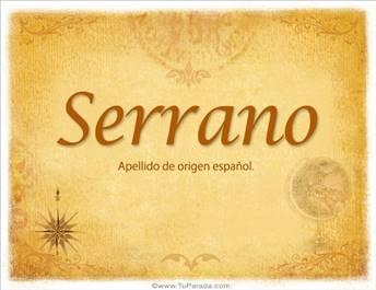Origen y significado de Serrano