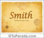 Origen y significado de Smith