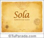 Origen y significado de Sola