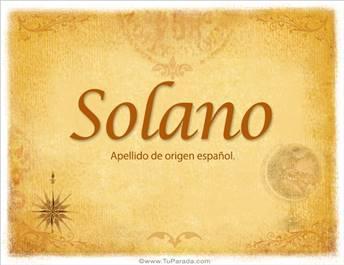 Origen y significado de Solano