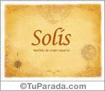 Origen y significado de Solís
