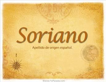 Origen y significado de Soriano