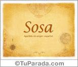 Origen y significado de Sosa