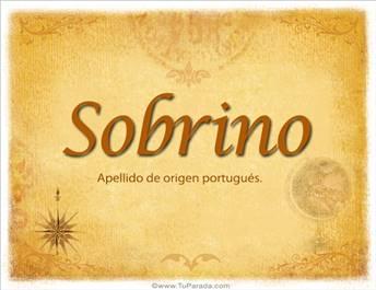 Origen y significado de Sobrino