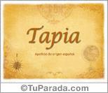 Origen y significado de Tapia