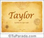 Origen y significado de Taylor