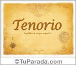 Origen y significado de Tenorio