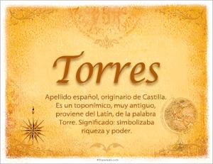 Origen y significado de Torres