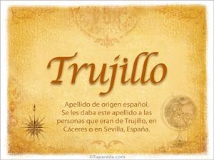 Origen y significado de Trujillo