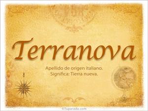 Origen y significado de Terranova