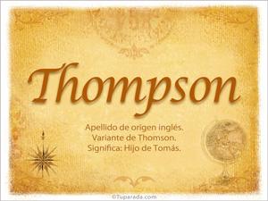 Origen y significado de Thompson