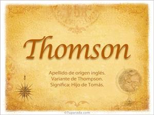 Origen y significado de Thomson