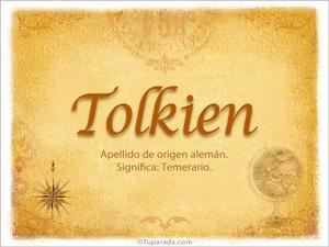 Origen y significado de Tolkien