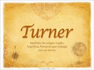 Origen y significado de Turner