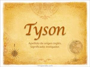 Origen y significado de Tyson