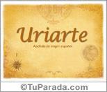 Origen y significado de Uriarte