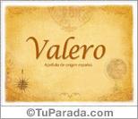 Origen y significado de Valero