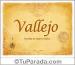 Origen y significado de Vallejo
