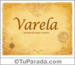 Origen y significado de Varela