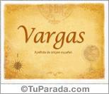 Origen y significado de Vargas