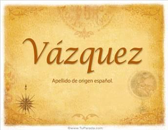 Origen y significado de Vázquez