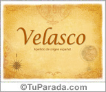 Origen y significado de Velasco