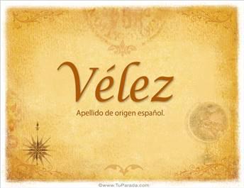 Origen y significado de Vélez
