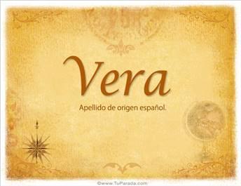Origen y significado de Vera