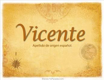 Origen y significado de Vicente