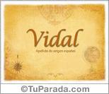 Origen y significado de Vidal