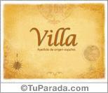Origen y significado de Villa