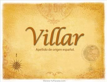 Origen y significado de Villar
