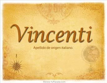 Origen y significado de Vincenti