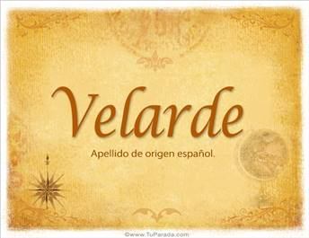 Origen y significado de Velarde