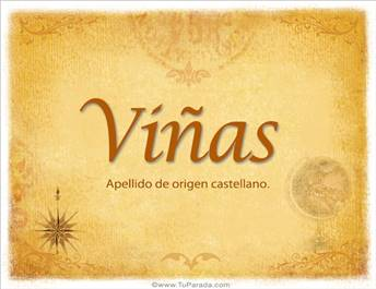 Origen y significado de Viñas
