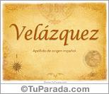Origen y significado de Velázquez