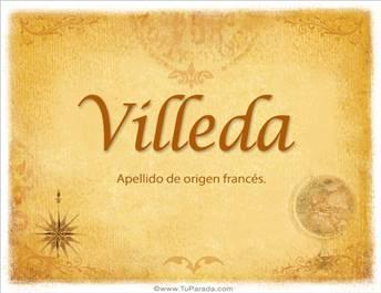 Origen y significado de Villeda