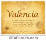 Origen y significado de Valencia