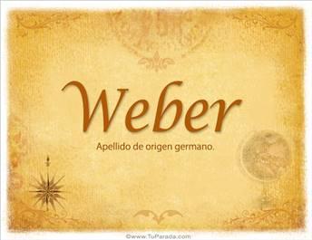 Origen y significado de Weber