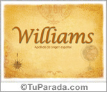 Origen y significado de Williams