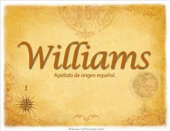 Origen y significado de Williams
