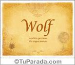 Origen y significado de Wolf