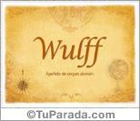 Origen y significado de Wulff