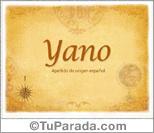 Origen y significado de Yano