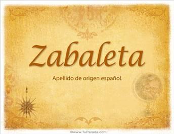 Origen y significado de Zabaleta