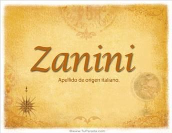 Origen y significado de Zanini